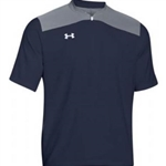 Pittsford Panthers Baseball Adult Under Armour Navy/Steel Triumph Cage Short Sleeve Jacket