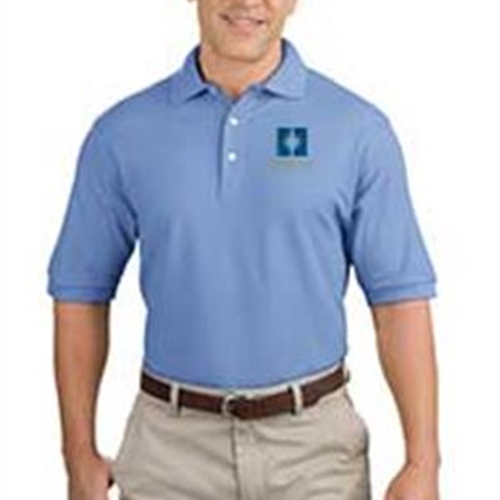 33c8138242 Heritage Christian Services Mens Short Sleeve Polo